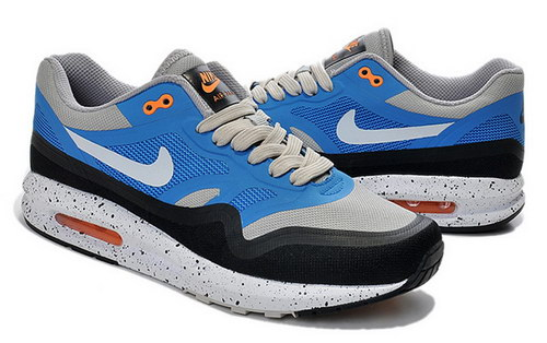 Mens Nike Air Max Lunar 1 Black Grey Blue Portugal