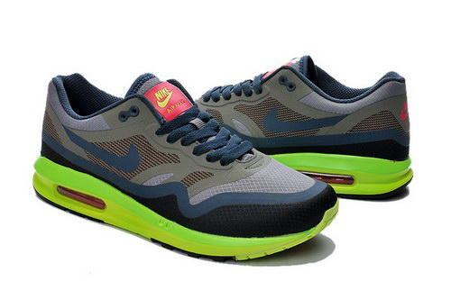 Mens Nike Air Max Lunar 1 Black Grey Green Outlet Store