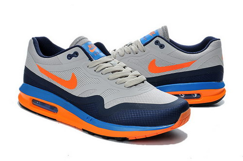 Mens Nike Air Max Lunar 1 Grey Blue Orange Promo Code