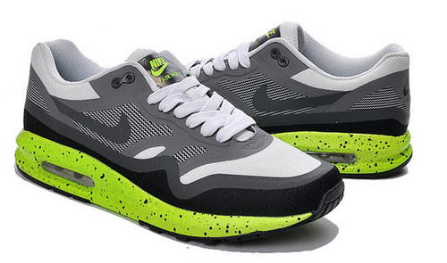 Mens Nike Air Max Lunar 1 Grey White Green Korea
