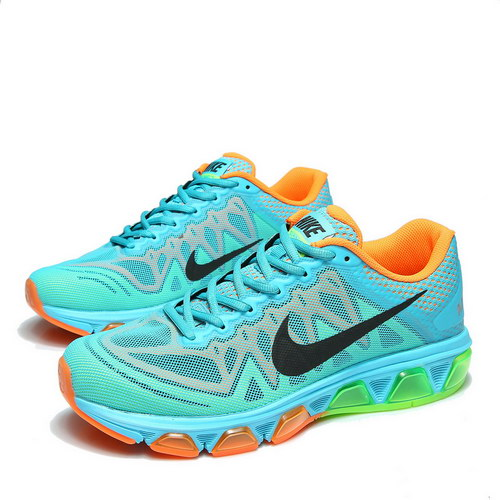 Mens Nike Air Max Tailwind 7 Blue Orange Black Closeout