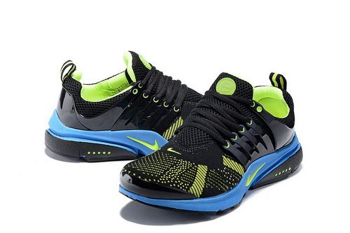 Mens Nike Air Presto Flyknit Black Green Low Price