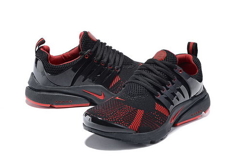 Mens Nike Air Presto Flyknit Black Red Italy