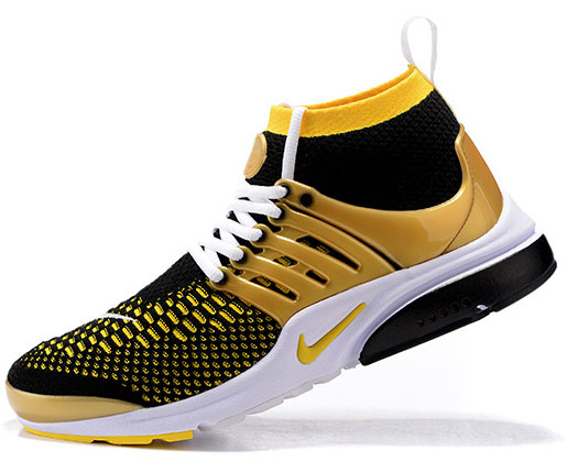 Mens Nike Air Presto Ultra Flyknit Black Gold 40-46 Sweden