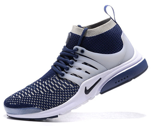 Mens Nike Air Presto Ultra Flyknit Dark Blue White 40-46 Uk