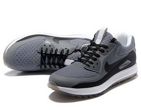 Mens Nike Air Zoom 90 It Grey Black Outlet Online