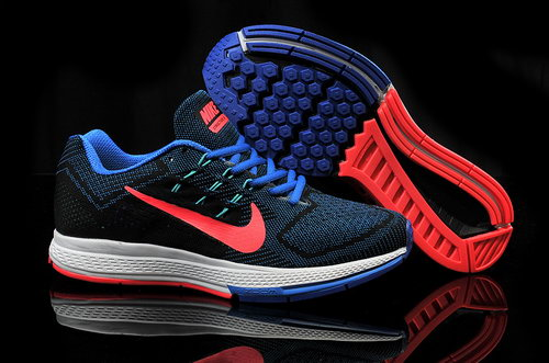 Mens Nike Air Zoom Structure 18 Black Blue Red On Sale