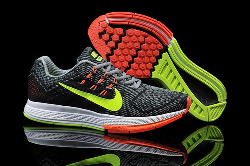 Mens Nike Air Zoom Structure 18 Black Grey Green Orange Online