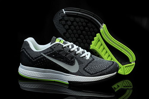 Mens Nike Air Zoom Structure 18 Black Grey Green Hong Kong