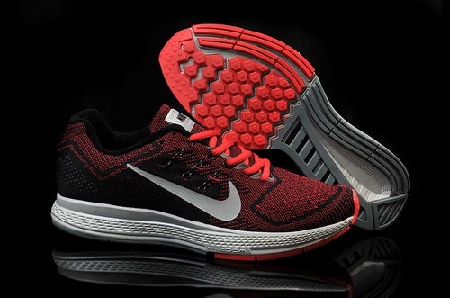 Mens Nike Air Zoom Structure 18 Black Red Grey Taiwan