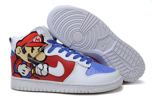 Mens Nike Dunk High Mario - Red White Switzerland