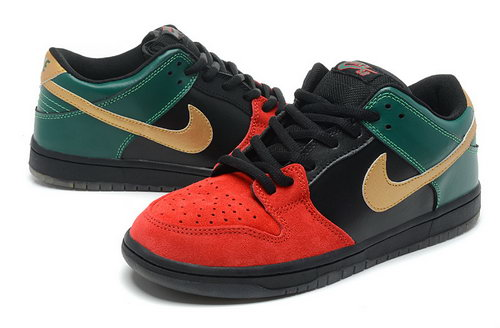 Mens Nike Dunk High Red Black Green Usa