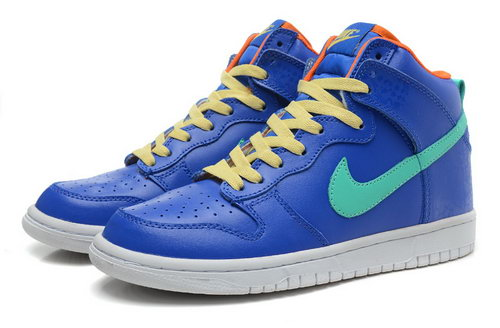 Mens Nike Dunk High South Coast - Acid Blue Promo Code