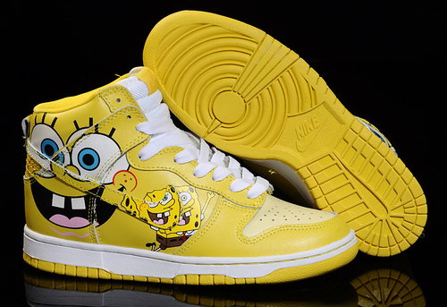 Mens Nike Dunk High Spongebob - Yellow Clearance