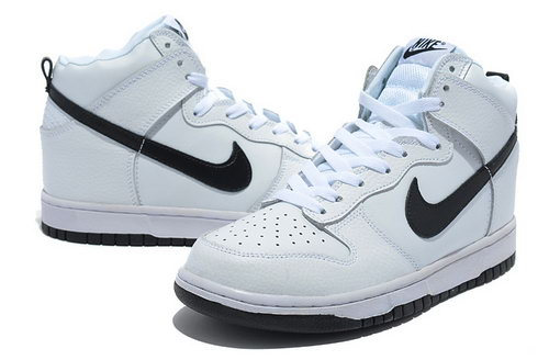 Mens Nike Dunk High All White - Black Hook Best Price