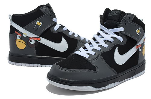 Mens Nike Dunk High Angry Birds - Black Discount Code