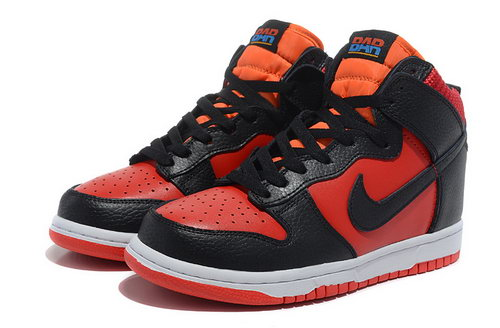 Mens Nike Dunk High Blood-red Black On Sale