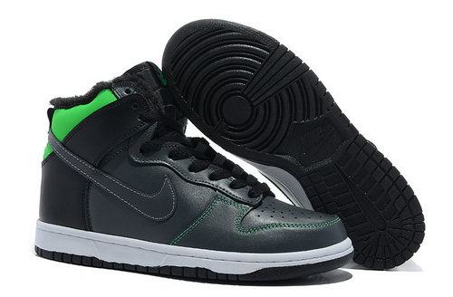 Mens Nike Dunk High Charcoal Ash & Green Norway