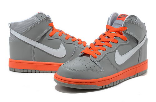 Mens Nike Dunk High Grey White Orange Coupon