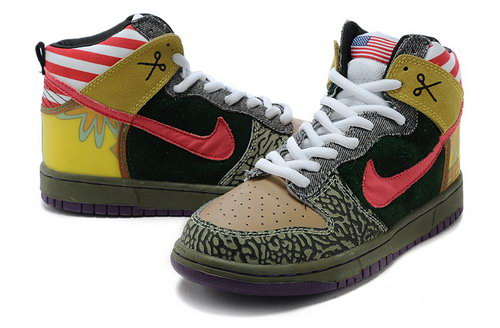 Mens Nike Dunk High Pawpaw - Army Green For Sale