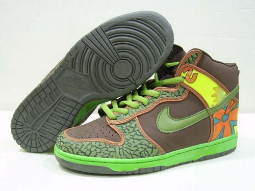 Mens Nike Dunk High Pawpaw - Green Brown Online Store