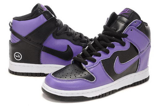 Mens Nike Dunk High Purple And Black Outlet Store