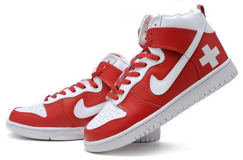 Mens Nike Dunk High Red And White Japan
