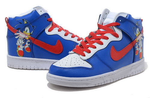 Mens Nike Dunk High The Little Fox - Blue Red Korea