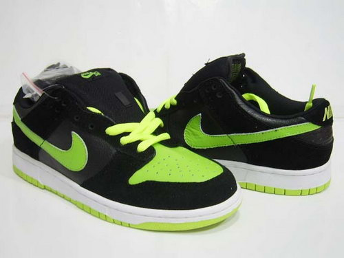 Mens Nike Dunk Low Black Fluorescent Green Norway
