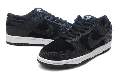Mens Nike Dunk Low All Black White Greece