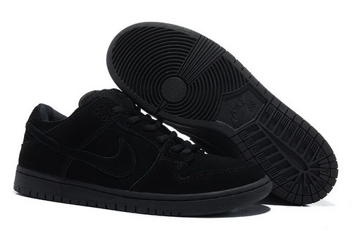 Mens Nike Dunk Low All Black Reduced