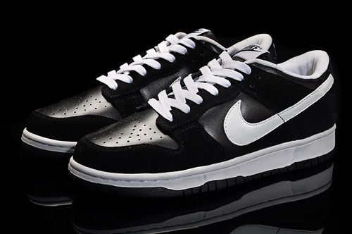Mens Nike Dunk Low Black - White Taiwan