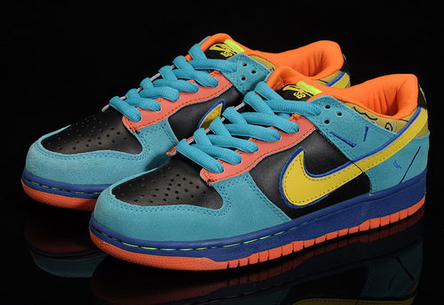 Mens Nike Dunk Low Blue Black Yellow Orange Review