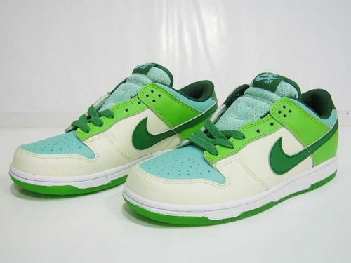 Mens Nike Dunk Low Noctilucence - Green White Usa