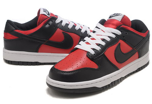 Mens Nike Dunk Low Red & Black Australia