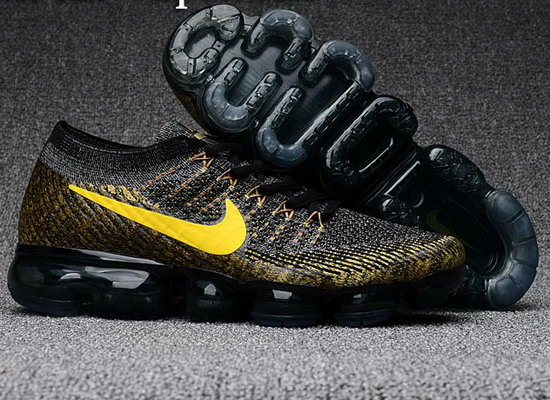 Mens Nike Flyknit Air Vapormax 2018 Black Gold Korea