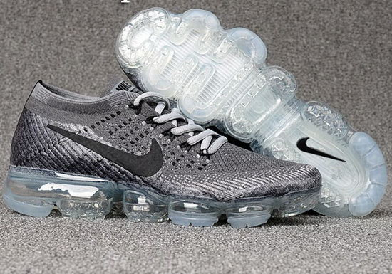 Mens Nike Flyknit Air Vapormax 2018 Black White Foot Netherlands