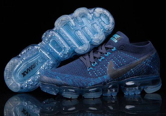 Mens Nike Flyknit Air Vapormax 2018 Blue Dark Blue Best Price