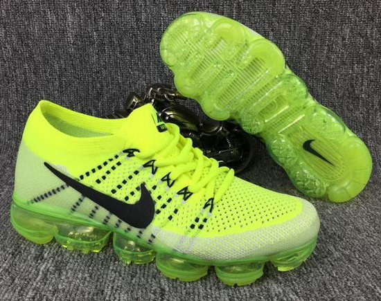 Mens Nike Flyknit Air Vapormax 2018 Fluorescent Green Black Discount Code