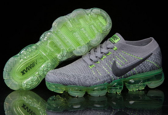 Mens Nike Flyknit Air Vapormax 2018 Grey Green Outlet