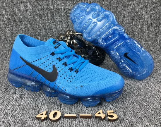 Mens Nike Flyknit Air Vapormax 2018 Light Blue Black Discount