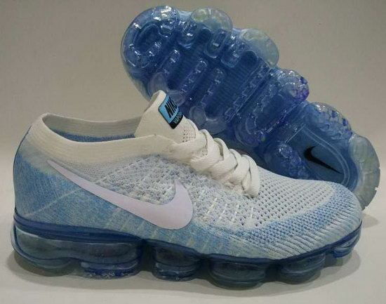 Mens Nike Flyknit Air Vapormax 2018 White Blue