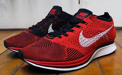 Mens Nike Flyknit Racer University Red White-black Poland