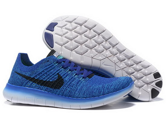 Mens Nike Free Flyknit 5.0 V2 Blue Black On Sale