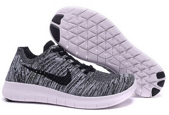 Mens Nike Free Flyknit 5.0 V2 Dark Grey Black Reduced