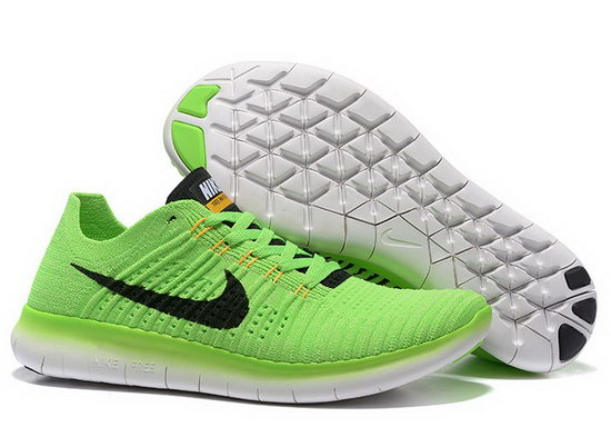 Mens Nike Free Flyknit 5.0 V2 Green Black France