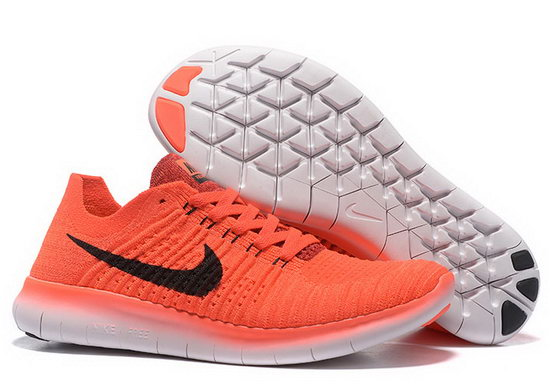 Mens Nike Free Flyknit 5.0 V2 Orange Black Online Shop