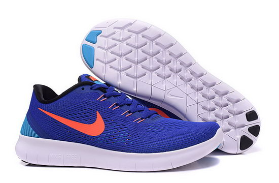 Mens Nike Free Running Blue Orange Low Price