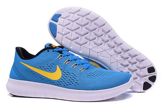 Mens Nike Free Running Blue Yellow Italy