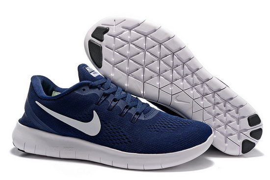 Mens Nike Free Running Dark Blue White Coupon